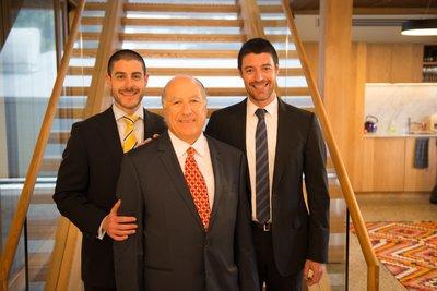 Daniel, Albert and Jack Malki at the Jet Technologies Open House.