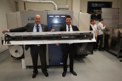 Peter Scott and Jack Malki showing what the printer is capable of.