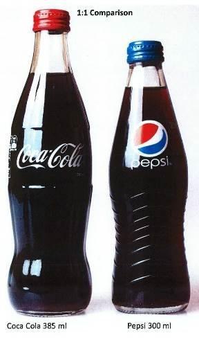 Coke's Contour Bottle and Pepsi's Carolina Bottle