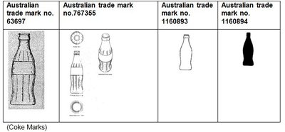 The four registered trade marks, which were the basis of Coke's trade mark infringement allegations against Pepsi