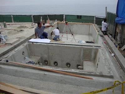 The Rock Solid Tile team gets to work.