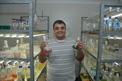 Dr Navid Moheimani, Director of the Algae Research and Development Centre at Murdoch University.