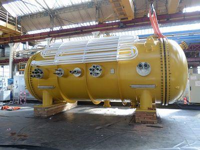 "The subsea converter or ""yellow submarine"" (Source: GE Marine)."