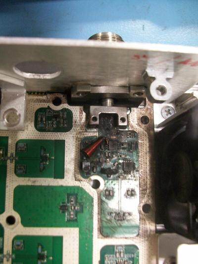 RF burned components