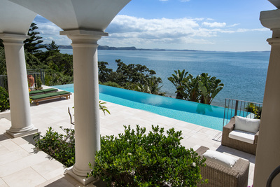 Morgan Pools' winning entry in the Residential Pools more than $100K category.