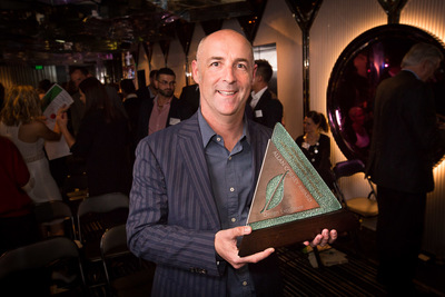 Steve Warner of Outhouse Design with the Allan Correy Award for Design Excellence.