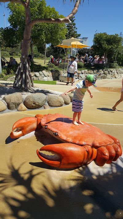 The crab is designed to be climbed on.