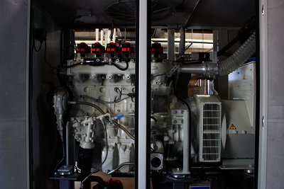 Interior of the combined heat and power system.