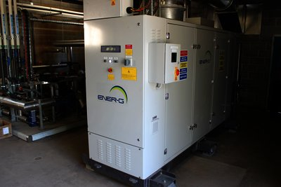 The Ener-G combined heat and power system.