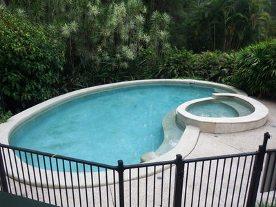 Before: the pool was unused and needed renovation.