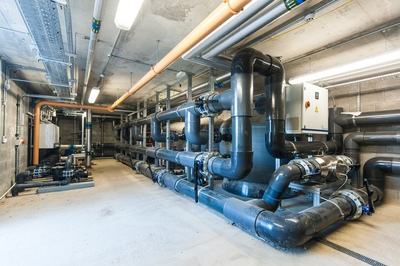 The Lido's plant room. Image courtesy of Waterco.
