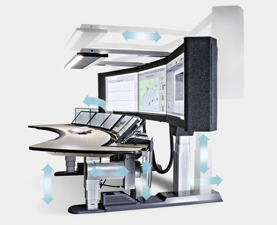Figure 2: A fully flexible operator workplace helps create a human-centric workspace and thus increases efficiency.