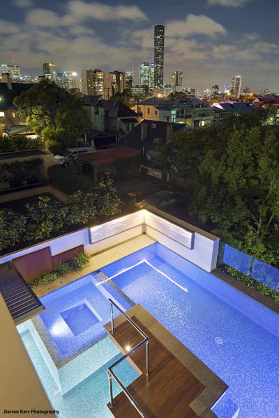 This rooftop pool by Utopia Landscape Design won silver in the Rooftop Landscape Design Category.