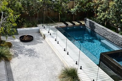 Brett Robinson of Acre Landscape Architecture won a gold award and Best in Category in the Rural/Coastal category for this modern poolscape.