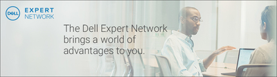 Advertisement panel for Dell Experts Network