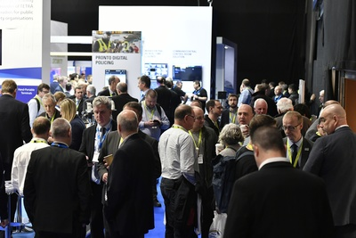 People gathered in the exhibition area of the BAPCO Show