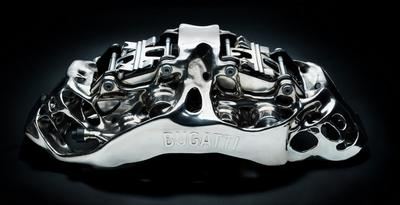 Figure 3: This part for the Bugatti Chiron is the world's largest 3D printed brake caliper.