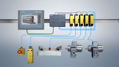 In a traditional safety conrol system the logic is done by wiring.