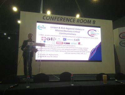 ACCF's Kevin Graham, on stage presenting a masterclass at CCW 2019