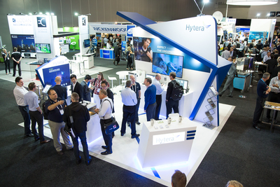 The Hytera stand at a recent Comms Connect exhibition