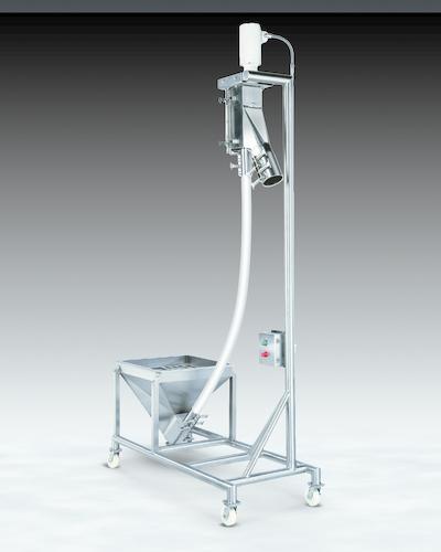Figure 1: Example of a sanitary mobile flexible screw conveyor.