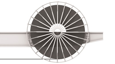 Motor cable drums are mounted on moving equipment. The cable is laid and retracted by the drum.