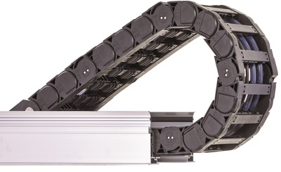 Energy chains are movable protective cages for safely guiding cables and hoses in moving applications.
