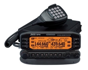 A front-on view of the Kenwood TM-D710GA amateur radio rig