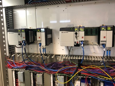 The plant's legacy PLC-5 controllers were upgraded to Allen-Bradley ControlLogix with the provision for redundancy.