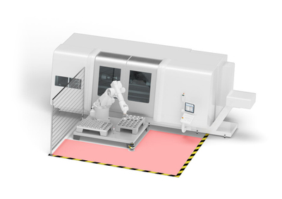 Figure 1: Safety-related monitoring of robot working areas.