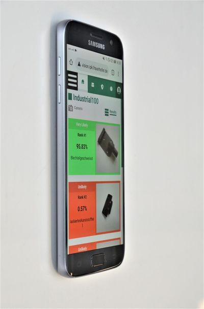 Image: The app interface. ©Fraunhofer IPK.