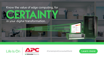 Schneider Electric promotional graphic for edge computing
